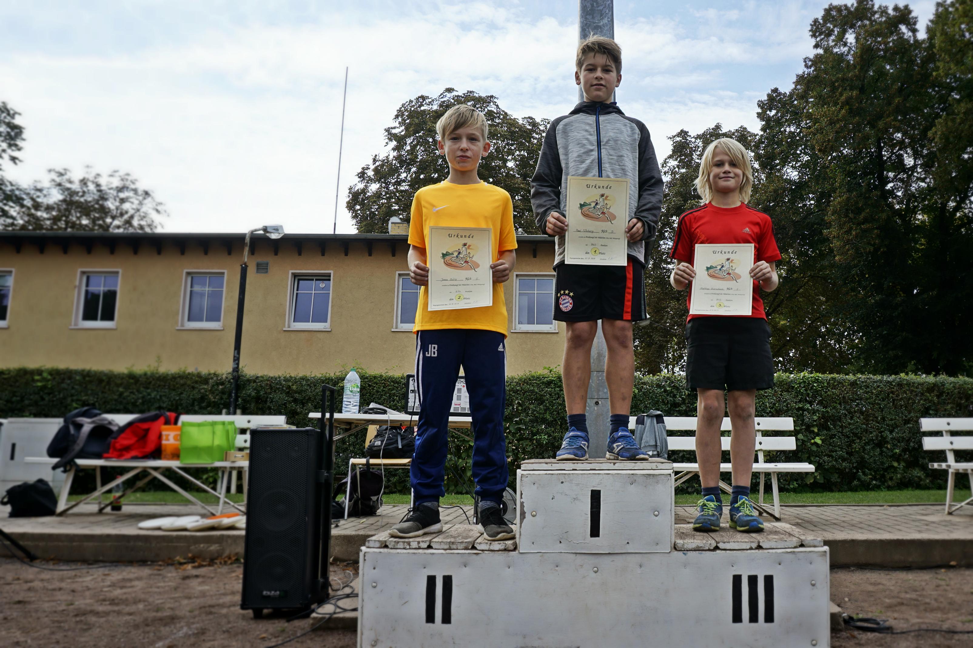 Sieger Jungs Klasse 5
